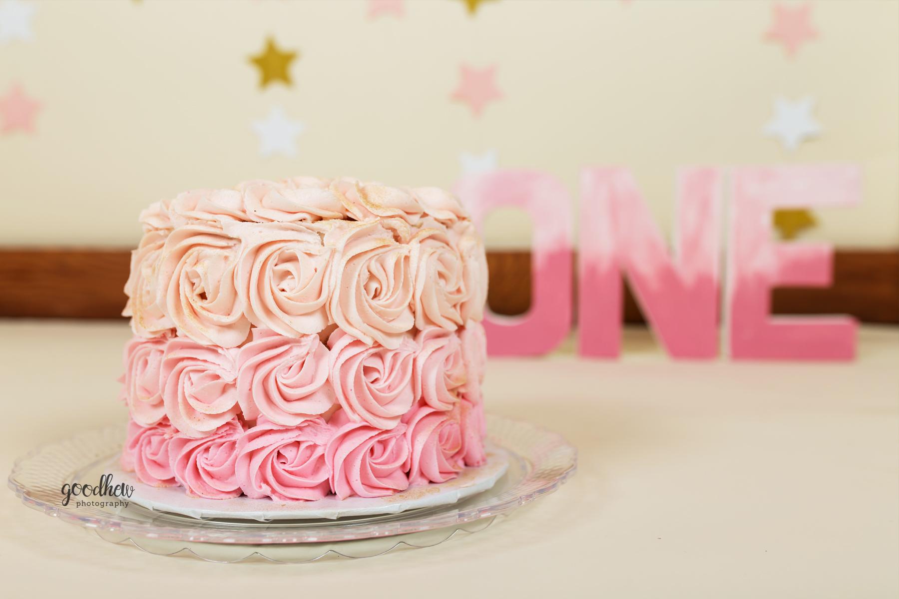 baby-girl-pink-gold-cake-smash-jackson-mi